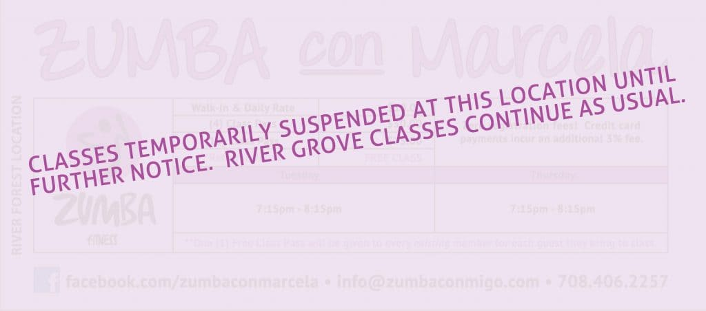 River Forest, IL Zumba Classes Schedule Suspended