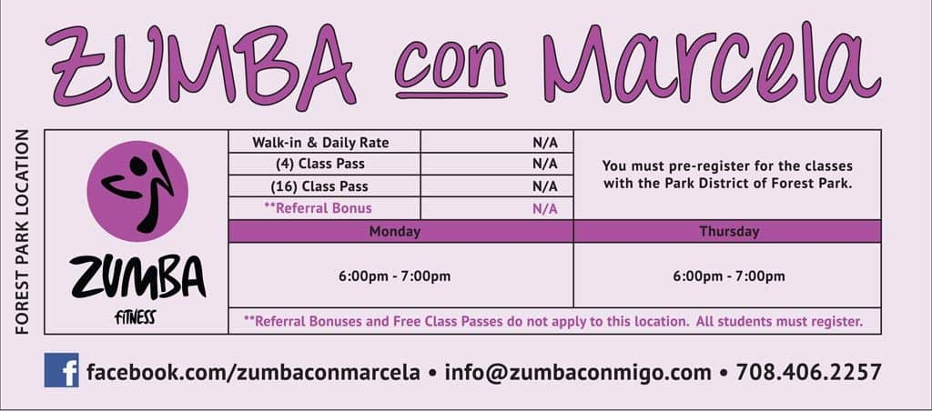 Forest Park, IL Zumba Classes Schedule